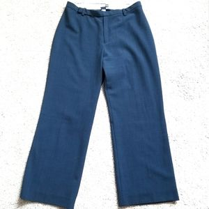 GAP Cropped Stretch Career Pants blue size…